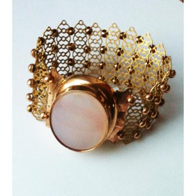Bracelet Pomponne Cabochon 19 ème