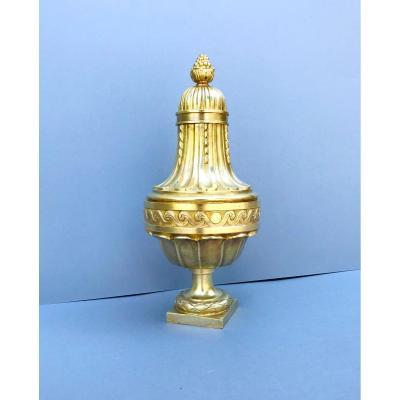 Boule Vase De Rampe D ' Escalier En Bronze