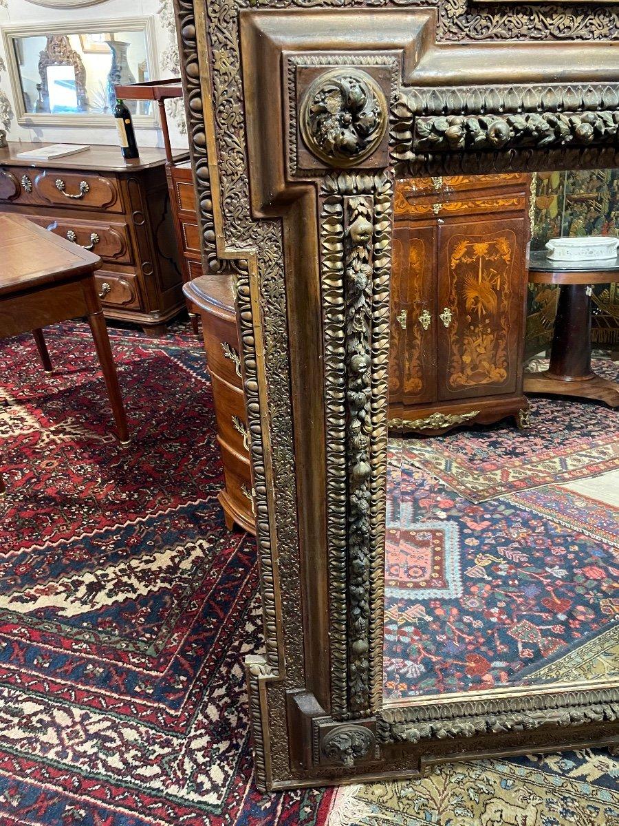 Grand Miroir Aux Angelots 19 Eme -photo-4