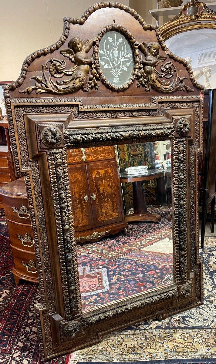 Grand Miroir Aux Angelots 19 Eme