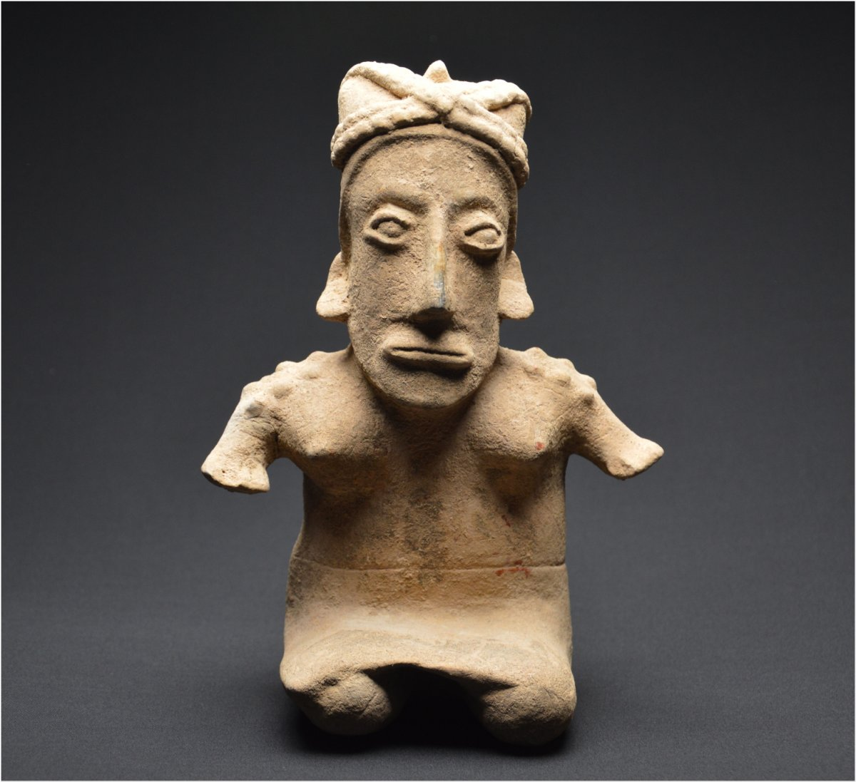 Western Mexico, Jalisco Culture, 300 Bc - 300 Ad, Important Anthropomorphic Statuette