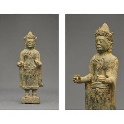 Bronze Buddha, Khmer Empire, Angkor Wat Period, Xth - XIIIth Century