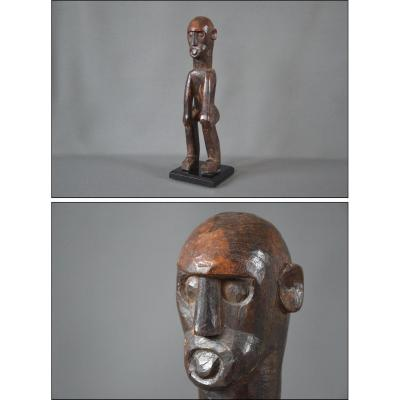 Ancient Ancestor Figure In Dense Wood, Indonesia, Timor Island, Early 20th Century
