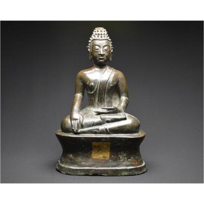 Ancient Kingdom Of Siam, Late 16th Century, Maravijaya Buddha In Bronze