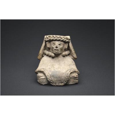 Mexique, Culture Zapotèque, 250 - 500 ap J. -C., Récipient anthropomorphe en terre cuite