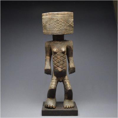 Democratic Republic Of Congo, Large Anthropomorphic Ceremonial Mortar