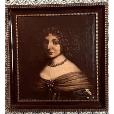 Portrait Woman With Jewelry XVIII XIX Noble Necklace