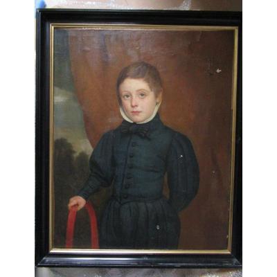 Portrait Of Child With Hoop XIX