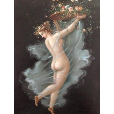 Bacchante à La Corbeille - Nu Féminin Antique