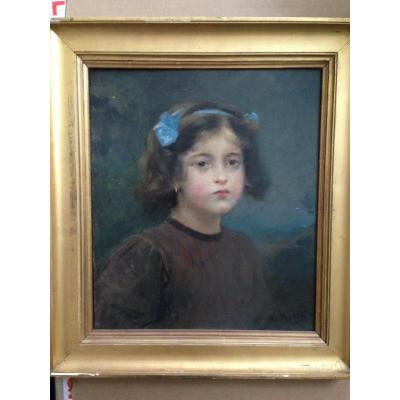 portrait jeune fille aux noeuds
