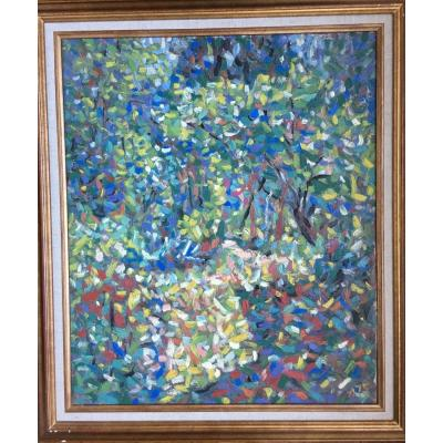 Pointillist Landscape Impressionist Garden