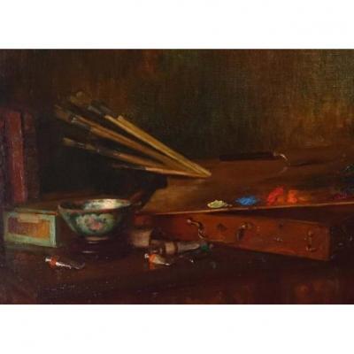 Still Life In The Painter's Workshop - XIXth Century