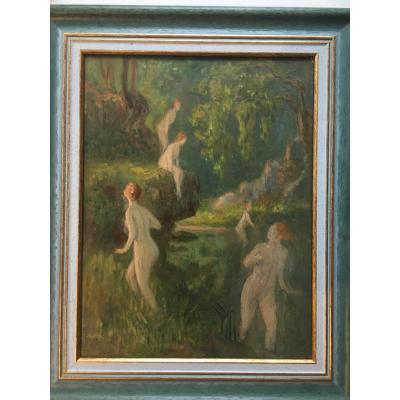 Women In The Bath - Impressionist Nude