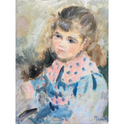 Portrait Of Young Impressionist Girl