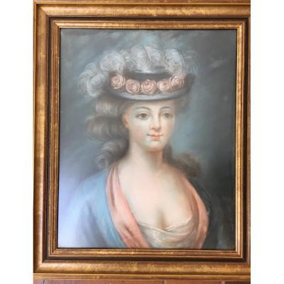 Pastel Portrait Elegant Woman XIX