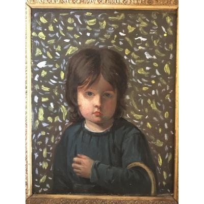 Portrait D Enfant Impressionniste
