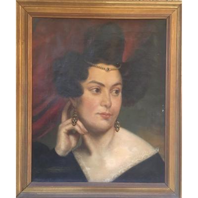 Portrait Femme Aux Bijoux XIX