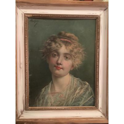 Portrait De Jeune Femme - Phalibon