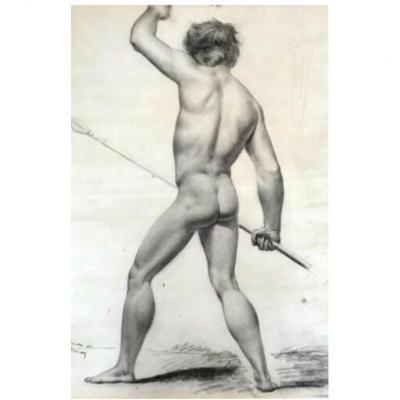 Dessin  Nu Masculin Académique - Académie d'Homme XIX