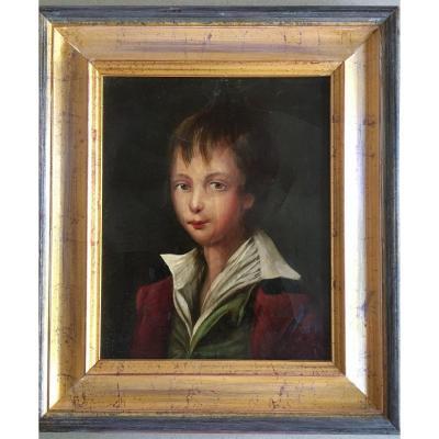 Ancien Portrait De Jeune Garçon - Enfant XIX