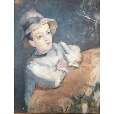Portrait De Jeune Garçon Impressionniste - Enfant