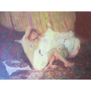 Female Nude Sunbeam Odalisque