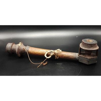 Mongo Pipe (r.d.c.) End Of XIXth Beginning Of XXth Century