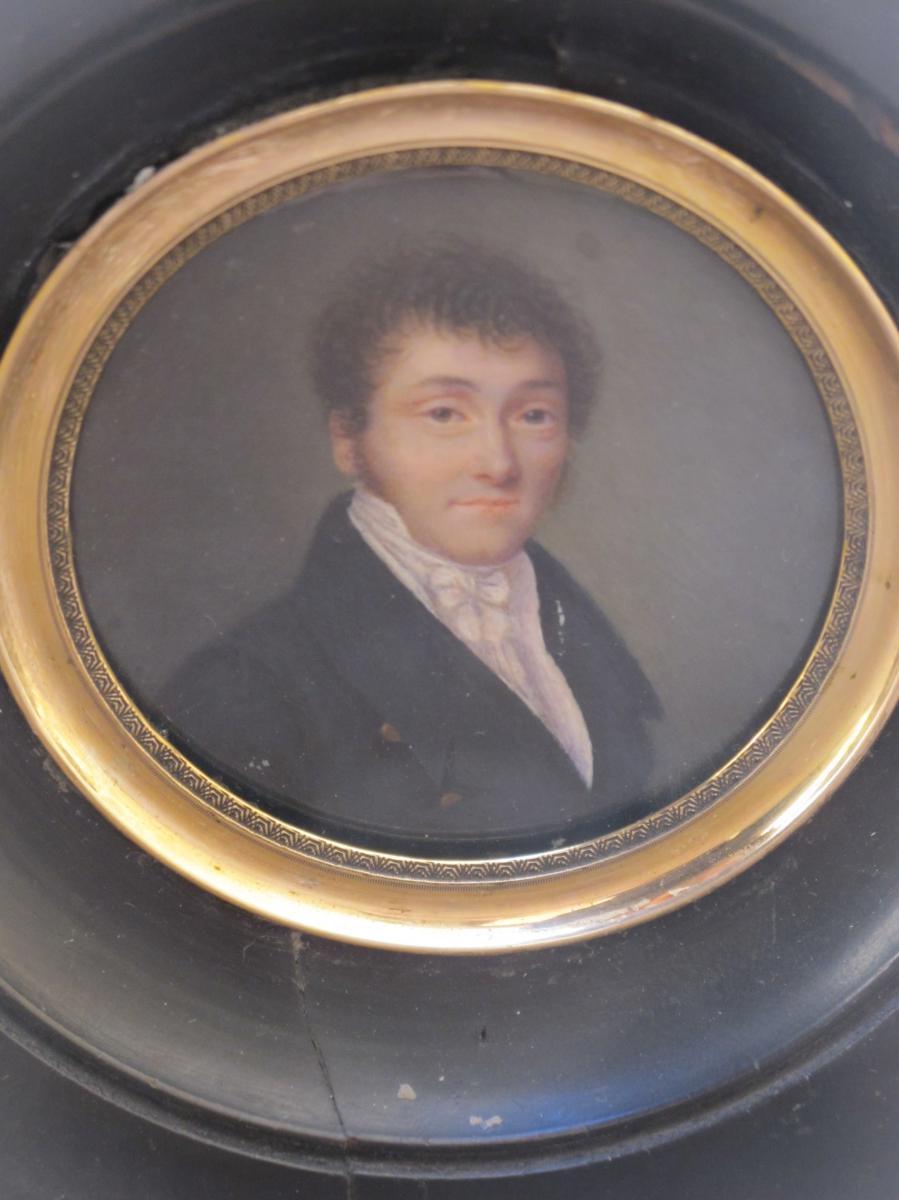 Miniature  Portrait d'Homme 19 ème Siècle