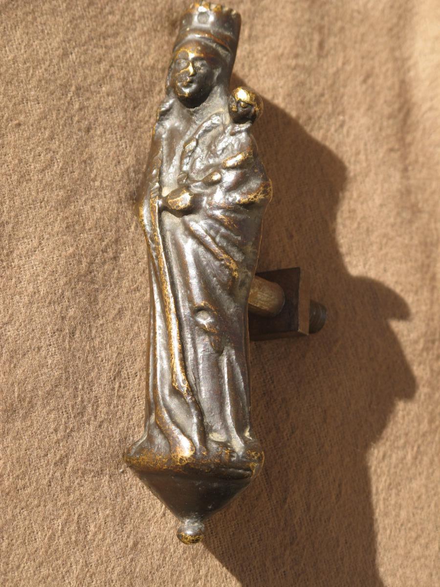 Vierge d'Applique En Bronze époque XVII ème Siècle France