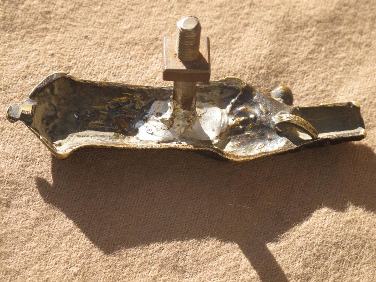 Vierge d'Applique En Bronze époque XVII ème Siècle France-photo-3