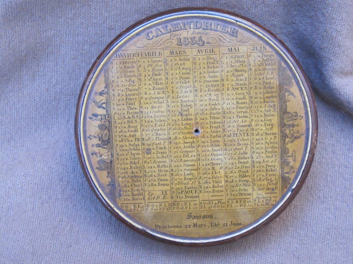 Boite Tabatière Calendrier Pour l'Année 1834 France-photo-4