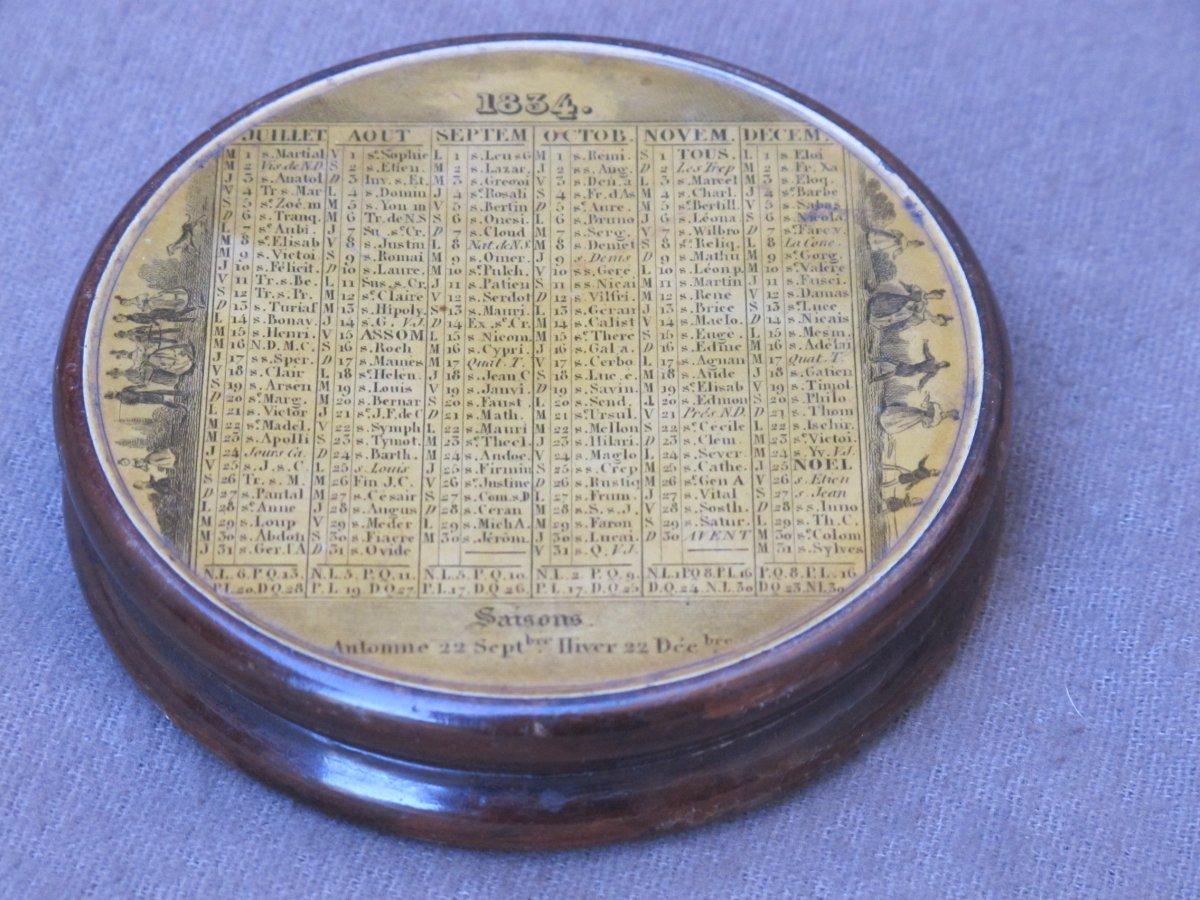 Boite Tabatière Calendrier Pour l'Année 1834 France