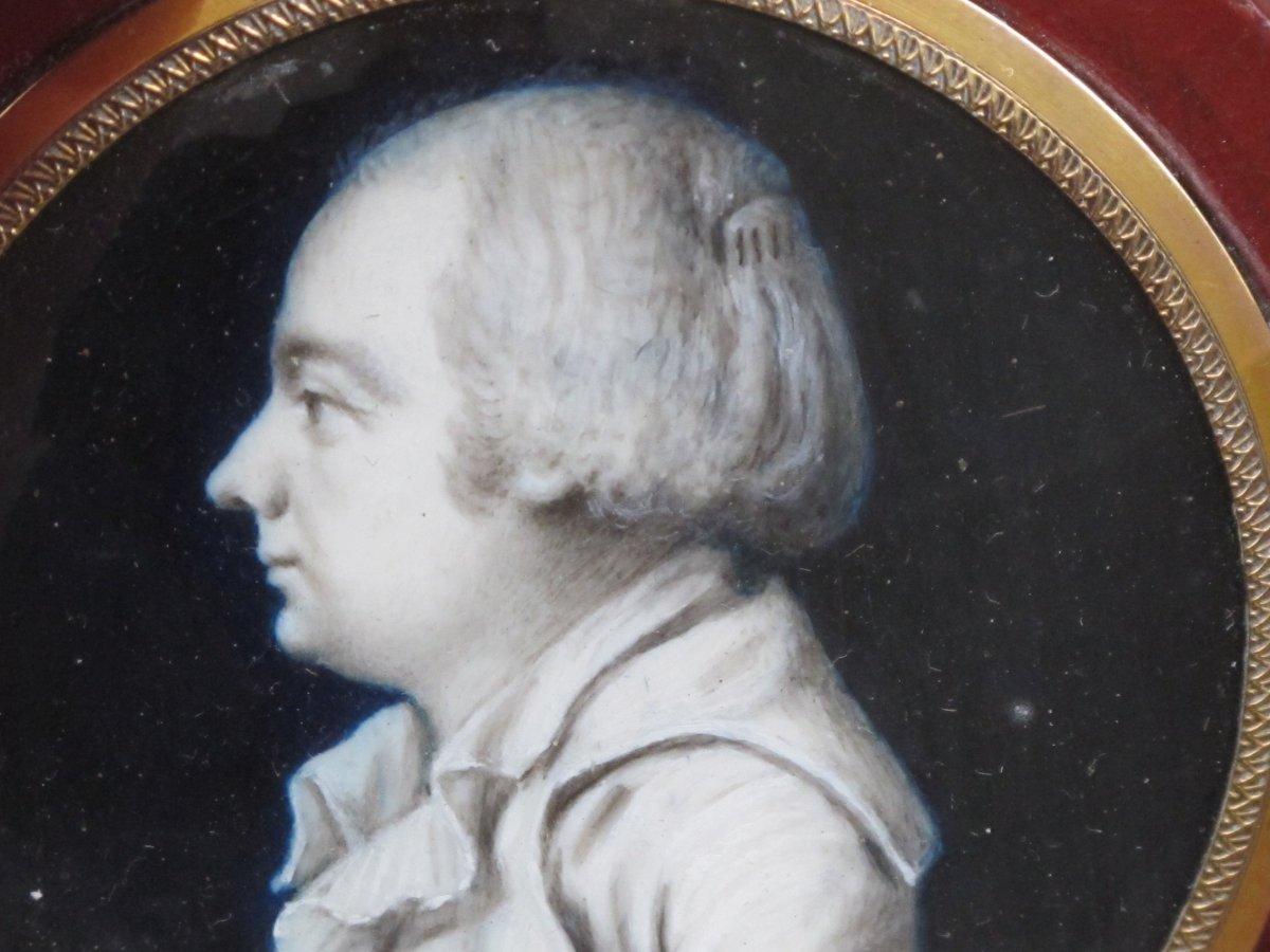Boite Miniature Signée Borilly    Homme Les Cheveux Relevés Par Un Peigne (condamné Révolution)-photo-1