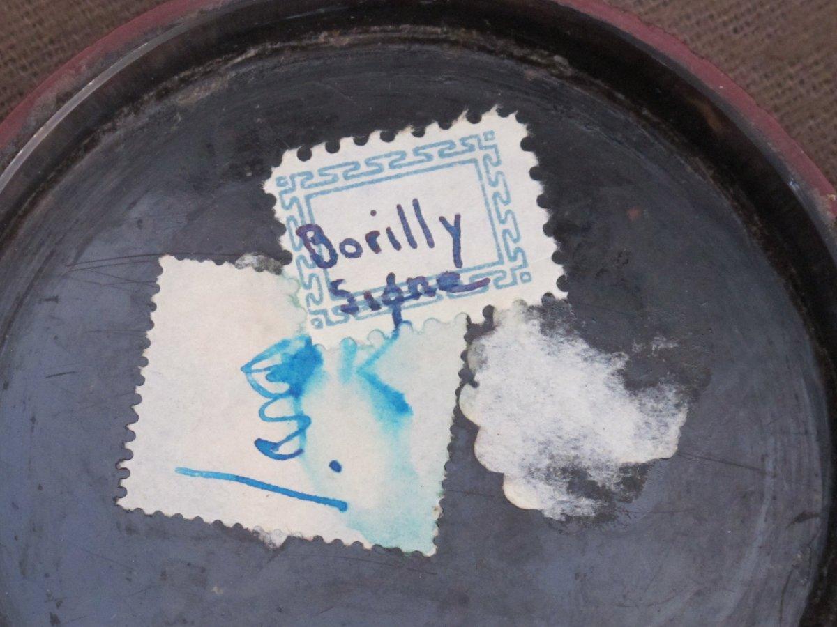 Boite Miniature Signée Borilly    Homme Les Cheveux Relevés Par Un Peigne (condamné Révolution)-photo-4