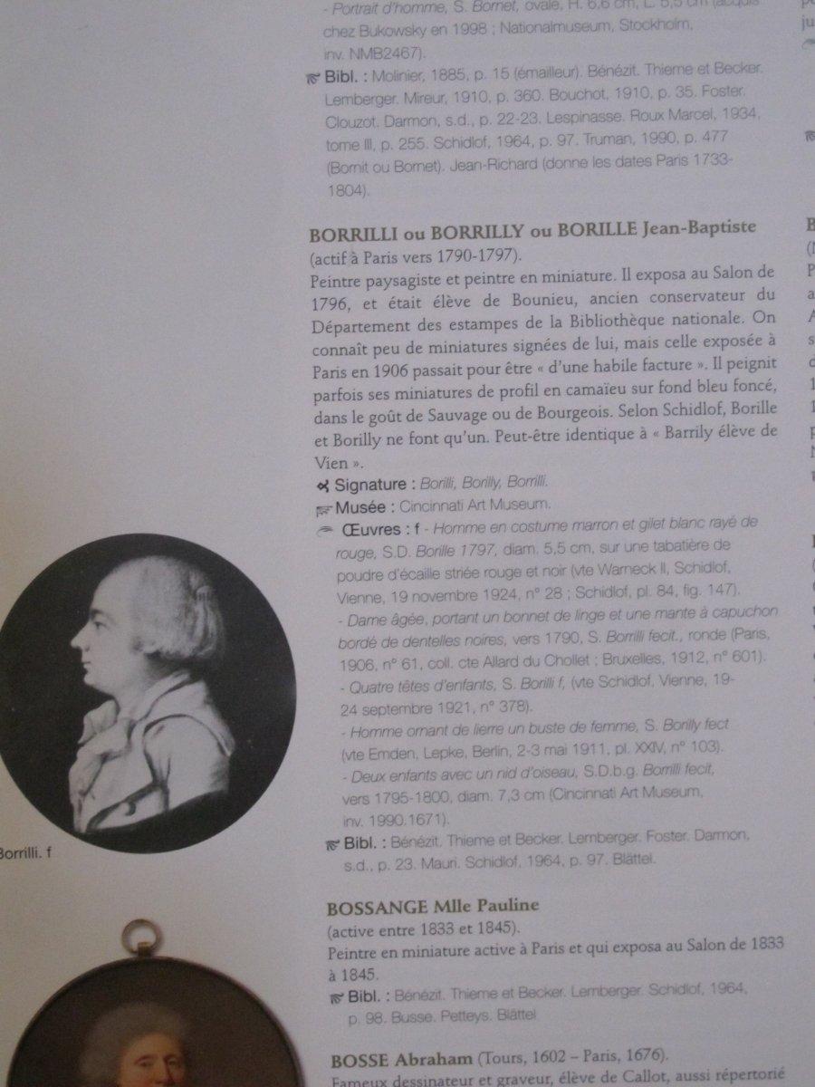 Boite Miniature Signée Borilly    Homme Les Cheveux Relevés Par Un Peigne (condamné Révolution)-photo-7