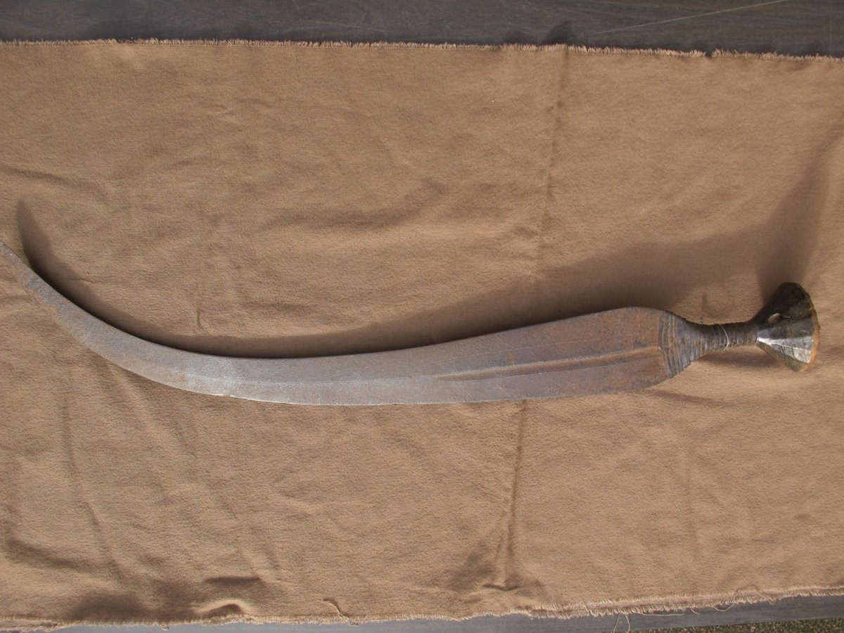Sword Ngombe Doko Democratic Republic Congo Formerly Zaire Weapon African Africa