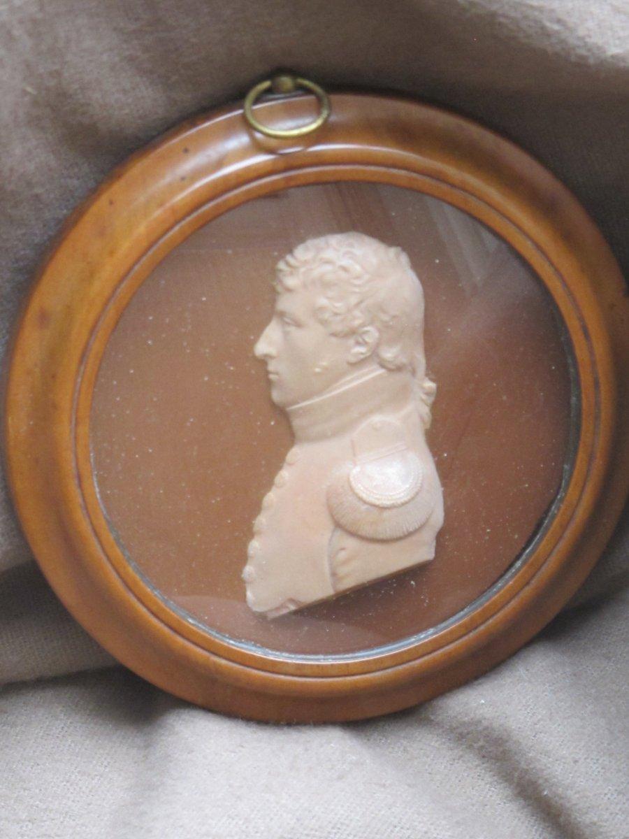 Profil Cire Officier Militaire Soldat Empire Napoléon Chiffre 3 Ou 8 Trace Signature Date 18..
