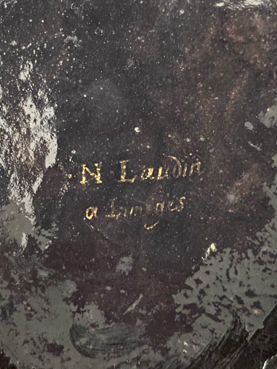 émail De Limoges Par Nicolas Laudin Saint Bruno époque XVII Eme Siècle-photo-3