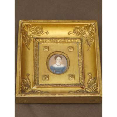 Miniature On Ivory Bouvier Signed Dated 1821