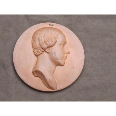 Médaillon En Terre Cuite Henri V Comte De Chambord Par Gayrard