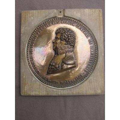 Médaillon En Bronze Du Comte De Songis Premier Inspecteur Général De l'Artillerie 1771 - 1809