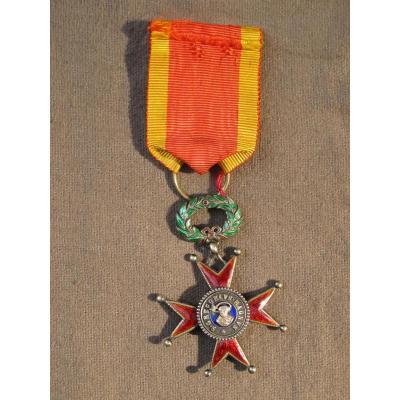 Médaille Décoration De l'Ordre De Saint-grégoire-le-grand Bronze Et émail
