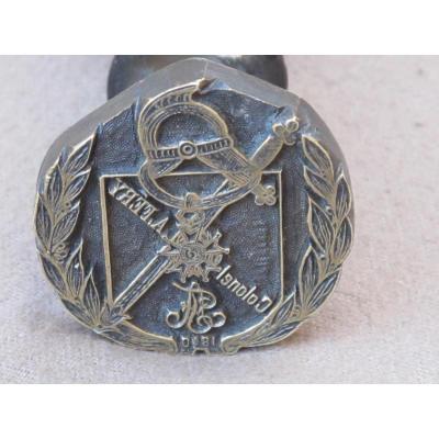 Cachet Sceau En Bronze Colonel A Fery 1840 Militaire Casque Sabre Légion d'Honneur