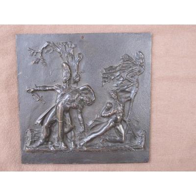 Plaque En Bronze Waterloo La Garde Meurt Mais Ne Se Rend Pas Napoléon Soldats Bataille Empire