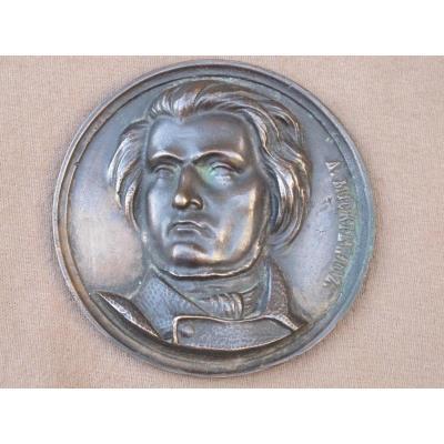 Médaillon En Bronze Adam Mickiewicz Poète Et écrivain