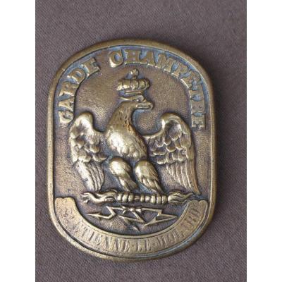 Plaque De Garde Champêtre De Saint-Étienne-le-molard En Bronze