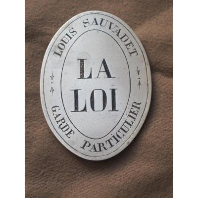 Plaque De Garde Louis Sauvadet La Loi