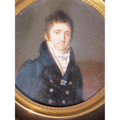 Miniature Homme Légion d'Honneur Décoration Du Lys Vers 1816 Belle Qualité