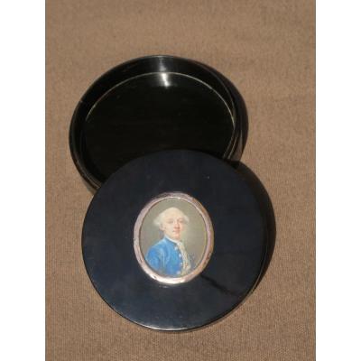 Boite En écaille Ornée d'Une Miniature époque Louis XVI