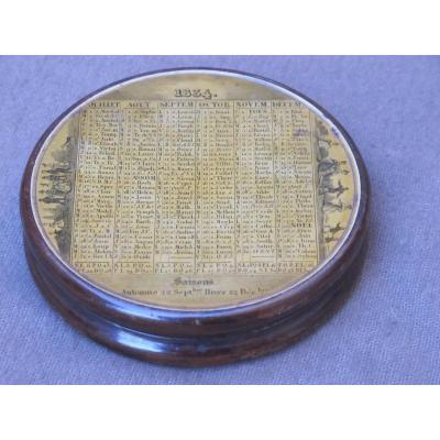 Box Snuff Box Calendar For The Year 1834 France